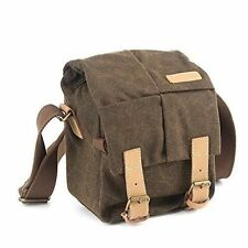 Caden Canvas Shoulder Messenger Bag Digital Camera SLR DSLR Bag Waterproof Case
