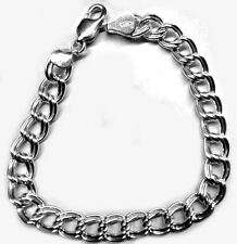 Charm Bracelet, Double Link Style in Sterling Silver w/Lobster Clasp