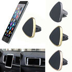 Gold Magnetic Car Air Vent Holder Mount Cradle Clip Stand For Samsung Galaxy GPS