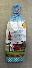 KITCHEN   TOWEL   CROCHET  TOP  LIFE IS BEAUTIFUL   FULL  TOWEL