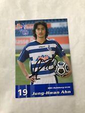 Spelerskaart Topspieler Handsigniert MSV Duisburg Jung Hwan Ahn