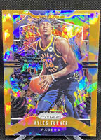 Myles Turner 2019-20 Panini Prizm Orange Cracked Ice #216 Pacers