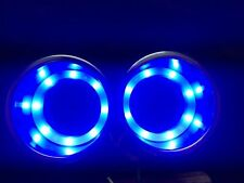 2 X 8LED's Blue Stainless Steel Cup Drink Holder Marine Boat Car Truck Camper