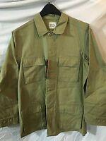 Khaki BDU Shirt Jacket Ripstop Cotton Blend Many Pockets XSM-SM NWT MOC