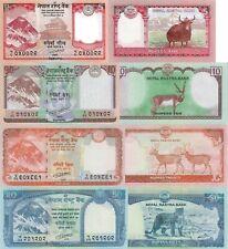 Nepal 4 Note Set: 5, 10, 20 & 50 Rupees (2015-2017) – p76, p77, p78, p79 UNC