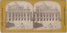 Echtes Original 1870er Jahre Stereofoto Paris, Oper, Frankreich