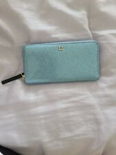 NWT Kate Spade Mavis Street zip around Blue Wallet