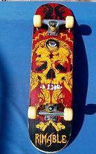 """Cool Skeleton Skull Rimable 31""""x 8"""" Skateboard"""