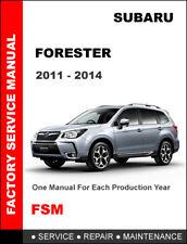 SUBARU FORESTER 2011 2012 2013 2014 FACTORY SERVICE REPAIR WORKSHOP MANUAL