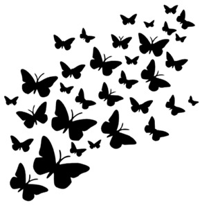 BUTTERFLY BEES MYLAR STENCIL HOME DECOR PAINTING WALL ART 190 MICRON - A7,A6,A5