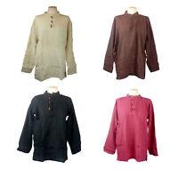 "Medieval,Cotton shirt, LARP, Hippi, Pirate, 4 Colours, 4 Sizes 30""-46"" Chest"