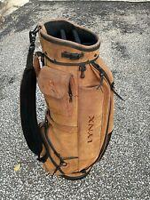 Vintage Retro Lynx Golf Bag,  Leather?