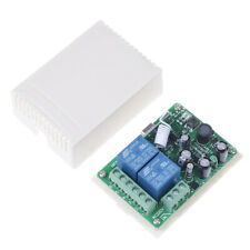 AC 220V 2CH Relay Receiver RF Wireless Remote Control Switch module Jn