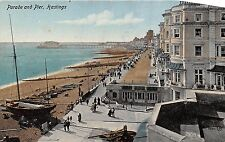POSTCARD   HASTINGS   Parade  and  Pier