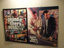 TWO SIDED PROMO POSTER GRAND THEFT AUTO V 5 SIZE 28 X 22 INCHES