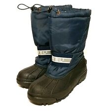 Vintage Sorel snowboots navy/black size 6 rubber sole nylon insulated cinch tie