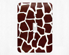 Zoo Giraffe style Metal Switch Light ,rocker switch covers, outlet covers