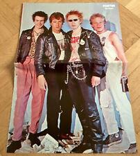 Sex Pistols 1977 Johnny Rotten Sid Vicious Swedish Poster Magazine 1970s Vintage