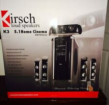 KIRSCH LOUD SPEAKERS K3, 5.1 HOME CINEMA SURROUND SOUND, AM/FM TUNER