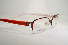 56229e98de Large Times Burgundy Nickel Semi Rimless Eyeglasses Glasses Optical Frames
