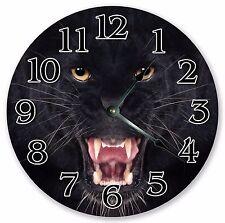 "10.5"" ROARING BLACK PANTHER CLOCK Large 10.5"" Wall Clock Home Décor Clock - 3148"
