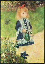 Postcard. Art. Painting. Girl with Watering Can. Renoir. Medici Society. Unused.
