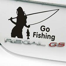 Girl Styling Car Stickers Go Fishing Outdoor for Car Accessories Decoration US