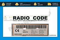 Becker Radio Code Mercedes Traffic Pro Indianapolis DTM Monza Exquisit Key Code