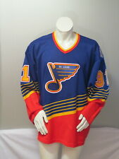 St Louis Blues Jersey (VTG) - 1990s Away Jersey Grant Fuhr by CCM - Men's 2XL