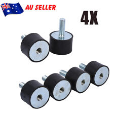 4pcs M8 Rubber Shock Absorber Anti Vibration Isolator Mounts Car Bobbin Thread