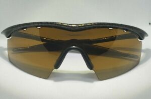 Oakley Black Tiger Stripe Brown Razor Blades Sunglasses with extra lens and case