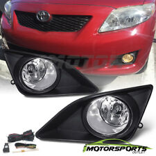 [w/Switch+Bulbs+Wiring Kit]For 2009 2010 Toyota Corolla Black Fog Lights Pair