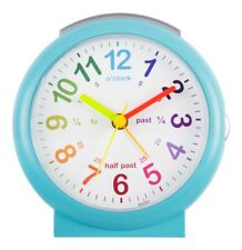 Acctim Lulu Blue Alarm Clock Time Teaching Non Ticking With Snooze & Light