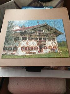 500 piece jigsaw puzzle ~~ BAVARIAN HOUSE ~~ used ~~ COMPLETE