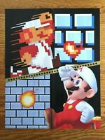Official Super Mario Bros. 35th Anniversary 2-SIDED Poster NES Nintendo Classic!