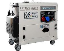 Stromerzeuger Diesel Stromaggregat 230V 400V 7,5 KW KS9202HDES1/3 ATSR K&S