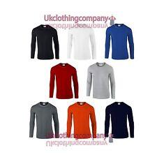 Hommes Style doux Manches Longues Gildan Haut Adulte T-Shirt S M L XL 2XL