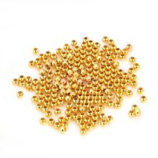 1000Pcs 3MM Plated Round Metal Ball Spacer Beads Loose Jewelry Making Findings