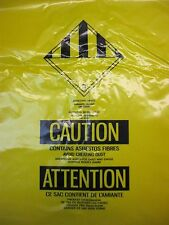 "NEW 3MM YELLOW ASBESTOS DISPOSAL BAGS (PACK OF 50) 33"" x 39-1/2"" (84 X 101 cm)"