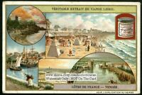 Vendee Bay Of Biscay France Coast  c1910 Trade Ad Card
