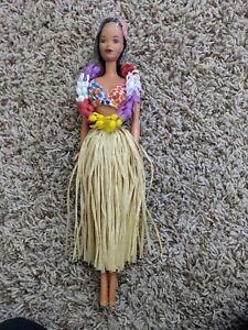 Vintage 1975 Hawaiian Barbie with Steffie Face, Bikini, Lei & Grass Skirt