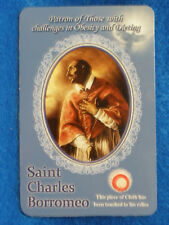 St Charles Borromeo.  3rd class relic card