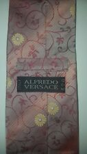 "Rare Alfredo Versace Men's Floral Iridescent Embroidered Neck Tie 58"" x 4"""