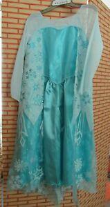 Disney Frozen Elsa Turquoise Dress Up Gown Costume Size Medium 8/10 NWT