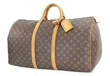 Authentic LOUIS VUITTON Keepall 55 Monogram Canvas Duffel Bag #27207