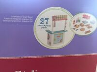 American Girl Snack Stand 27 pieces. Truly Me Collection.  NEW in unopened Box