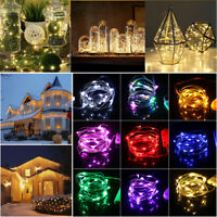 Christmas LED Light Glow Copper Wire Strip Rope Decor Outdoor Home Party 100LEDS