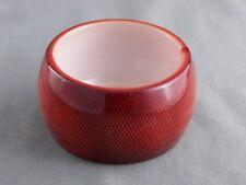 Dk Orange ombre plastic hinged bangle cuff  wide bracelet honeycomb pattern