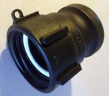 "275 + 330 Gn IBC Tote Tank HD 2"" Coarse Thread x 2"" cam lock drain adapter QDC"