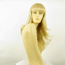 Perruque femme mi-longue blond doré méché blond très clair KENTA 24BT613
